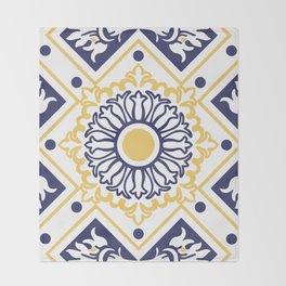 Azulejo Portugues 7 Throw Blanket
