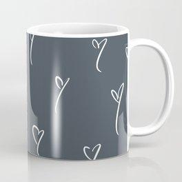 Blue-Gray Hearts Coffee Mug