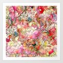 Summer Flowers | Colorful Watercolor Floral Pattern Abstract Sketch by girlytrend