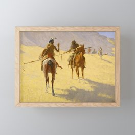 "Frederic Remington Western Art ""The Parley"" Framed Mini Art Print"