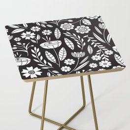 Blooming Field - black Side Table