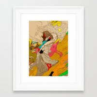 mother Framed Art Prints featuring MOTHER by kasi minami