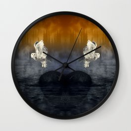 Her passage through time Wall Clock