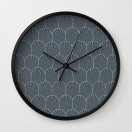 JAPANESE INDIGO: Pattern inspired by Art Deco Wall Clock