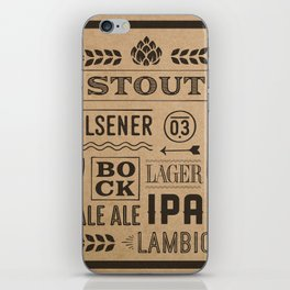 Type beer iPhone Skin