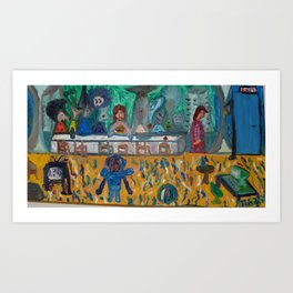 Modern last supper / Ultima Cena moderna Art Print
