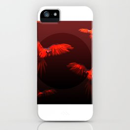 Papagei sunset iPhone Case