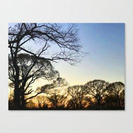 Kinder Fall Sunset Canvas Print