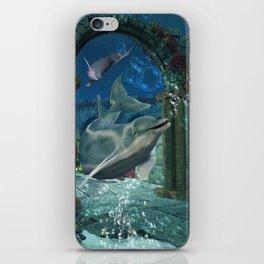 Wonderful dolphin iPhone Skin