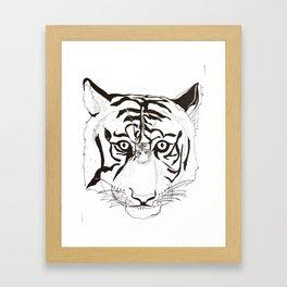 Triptych Tiger Framed Art Print