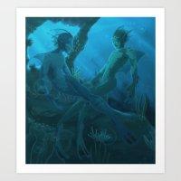 Flirtatious Aquasapiens Art Print