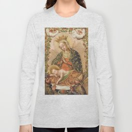 The Virgin Adoring the Christ Child with Two Saints Long Sleeve T-shirt