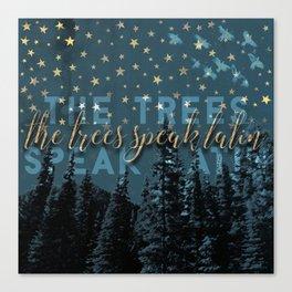 The trees speak latin Canvas Print