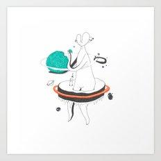 VACANCY Zine - Outer Space Breakfast Art Print