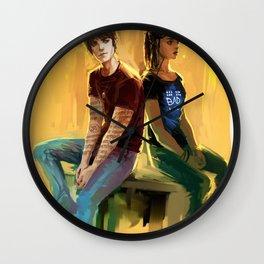 Jordan Kyle & Maia Roberts Wall Clock