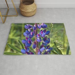 Summer Meadow with Blue Lupines Rug
