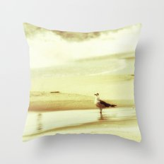 and the seagull's name was Nelson Throw Pillow