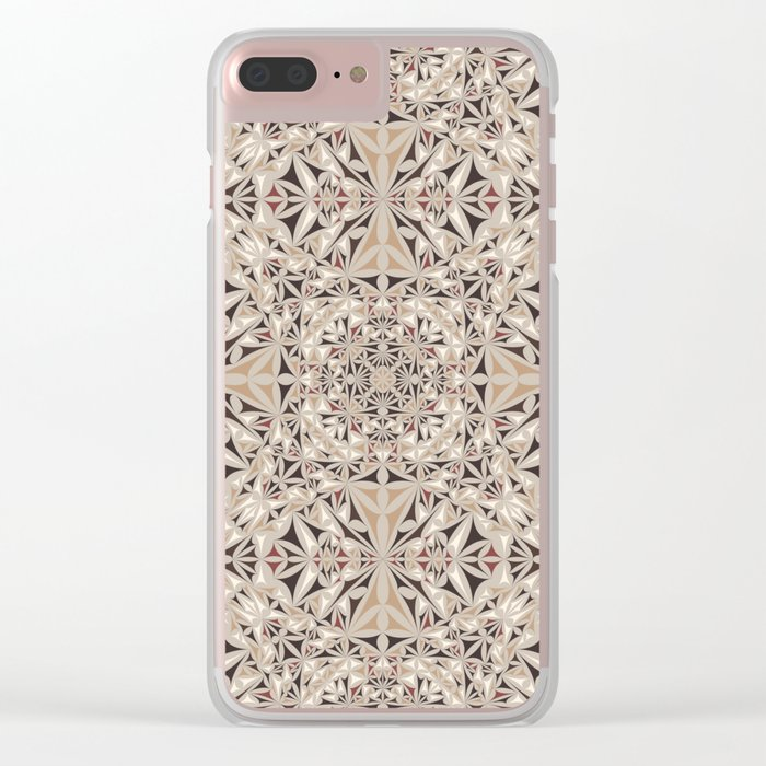 Cappuccino pattern Clear iPhone Case