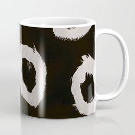 Round, Abstract, White & Black Coffee Mug