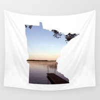 minnesota Wall Tapestries featuring Lake Minnesota by Keaton
