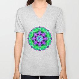 Mandala in nostalgic colors Unisex V-Neck