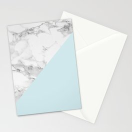 Marble + Pastel Blue Stationery Cards