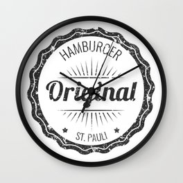 Original Hamburg Distressed Wall Clock