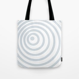 orbits - circle pattern in ice gray and white Tote Bag
