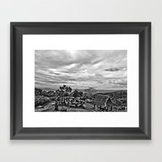 Picnic grove Framed Art Print