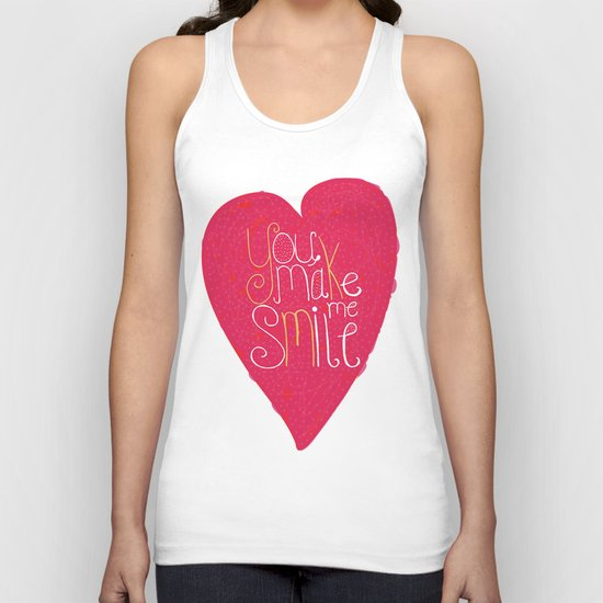 You make me smile ! Unisex Tank Top
