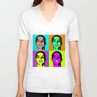 britney spears V-neck T-shirts featuring BRITNEY SPEARS by Medúsza