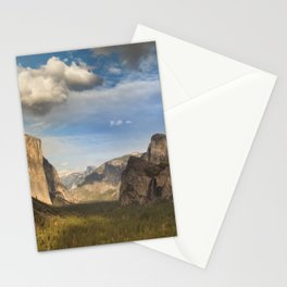 Tunnel View, Yosemite at Sunset Stationery Cards