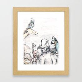 Animal pile  Framed Art Print