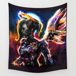 metal angel Wall Tapestry