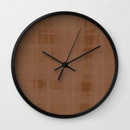 Copper Organza Wall Clock