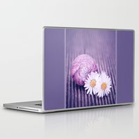 daisies Laptop & iPad Skins featuring DAISIES by VIAINA