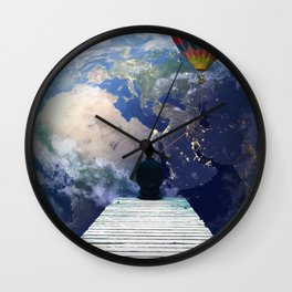 Playing from the moon Wall Clock