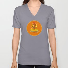 Fall Buddha Unisex V-Neck