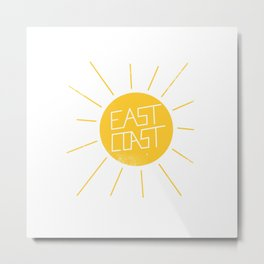 East Coast Sun Metal Print