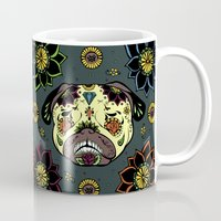 calavera Mugs featuring Calavera Paxicana by Huebucket