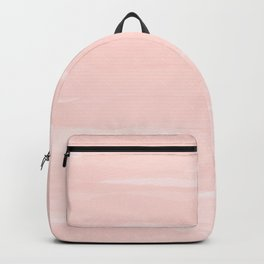 Pale Pink Abstract Brush Print Backpack