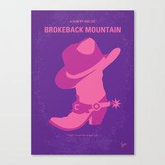 No369 My Brokeback Mountain minimal movie poster Canvas Print