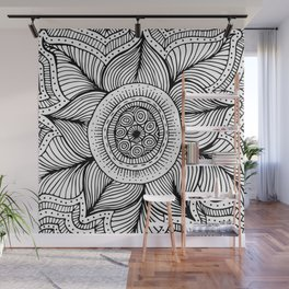 Doodle Flower Wall Mural