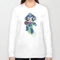 mega man Long Sleeve T-shirts featuring Mega Puff Man by Unihorse