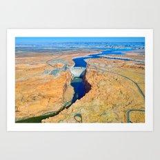 Glen Canyon Dam Art Print