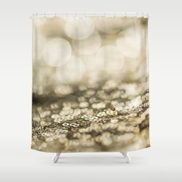 Shiny gold sparkling bokeh Shower Curtain