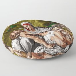"""And so it is"" - The Death of Jesus Landscape Painting by Jeanpaul Ferro Floor Pillow"