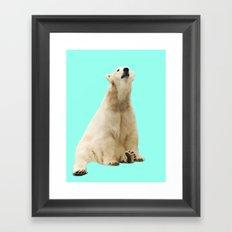 Pop Polar Bear Framed Art Print