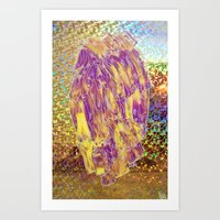 Holographic Space Fruit  Art Print