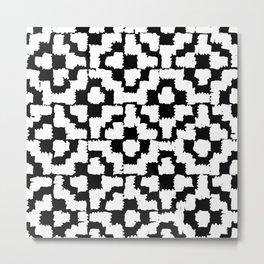 Luxury black and white hand drawn print Metal Print